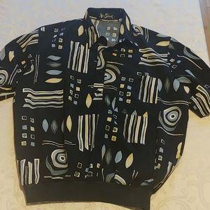 Vtg Alan Stuart Geometrical Short Sleeve Shirt